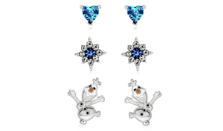 Disney Frozen Silver Coloured Olaf Stud Earrings - Set of 3