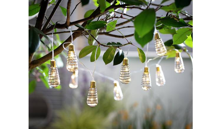Habitat 10 Warm White Wire Wrap LED Solar String Lights