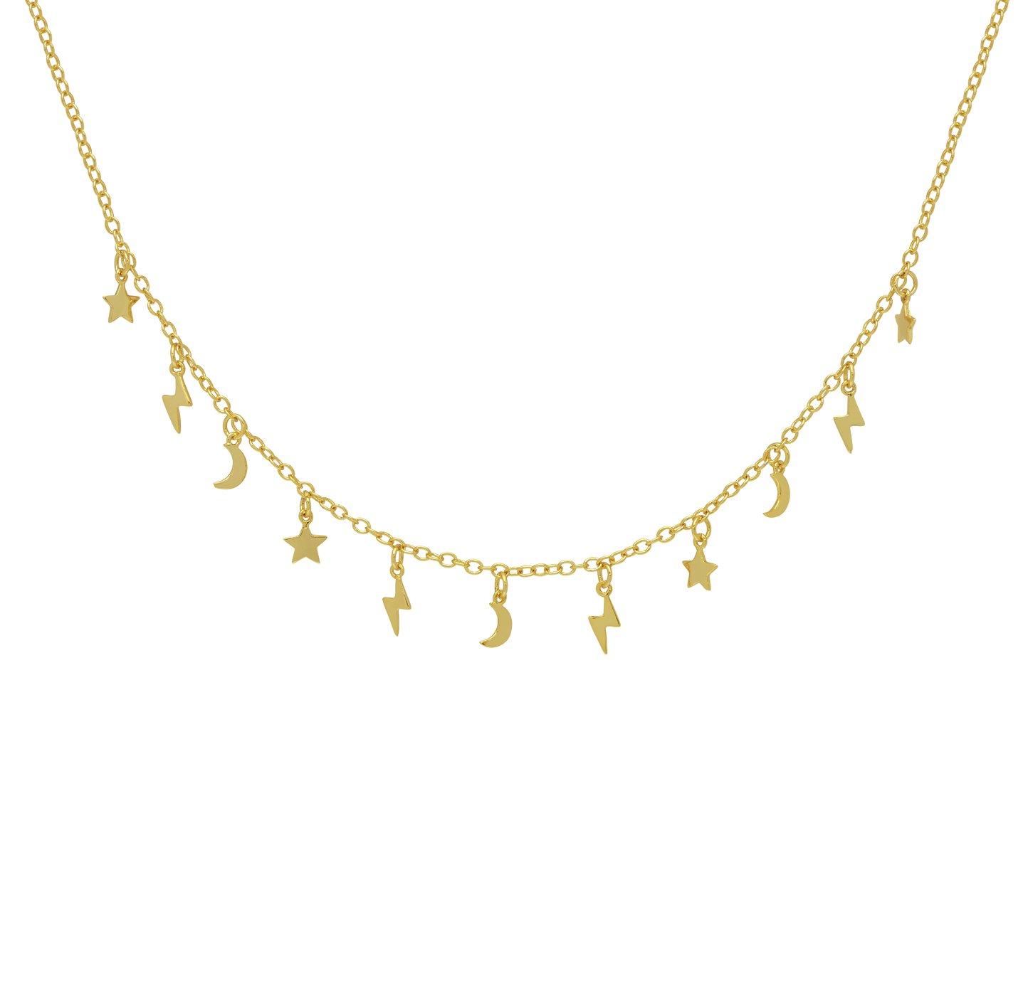 Amelia Grace Multi Drop Stellar Pendant Necklace