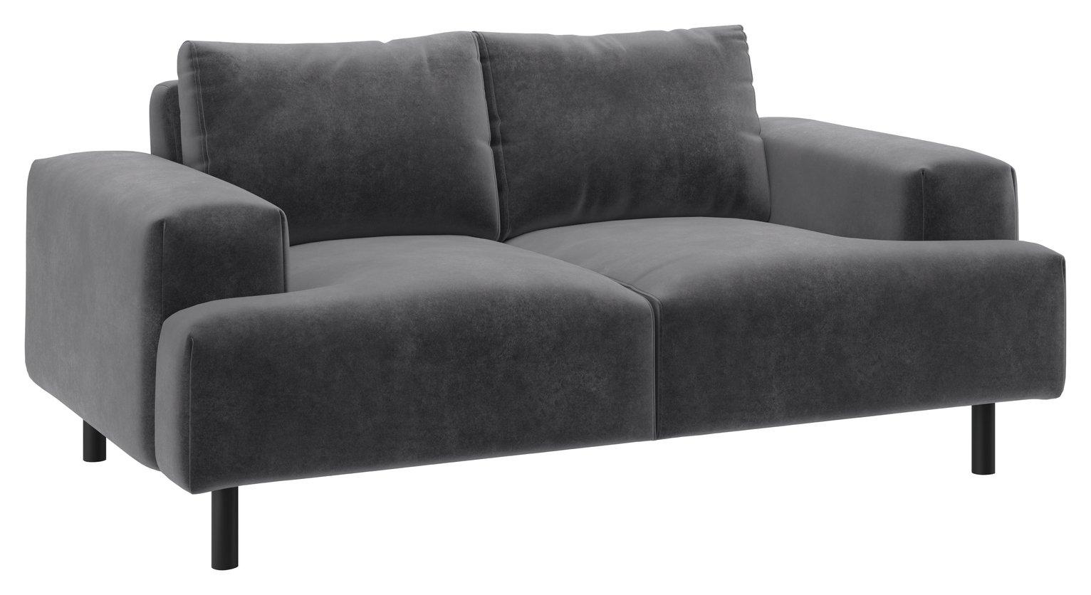 Habitat Julien 2 Seater Fabric Sofa - Grey