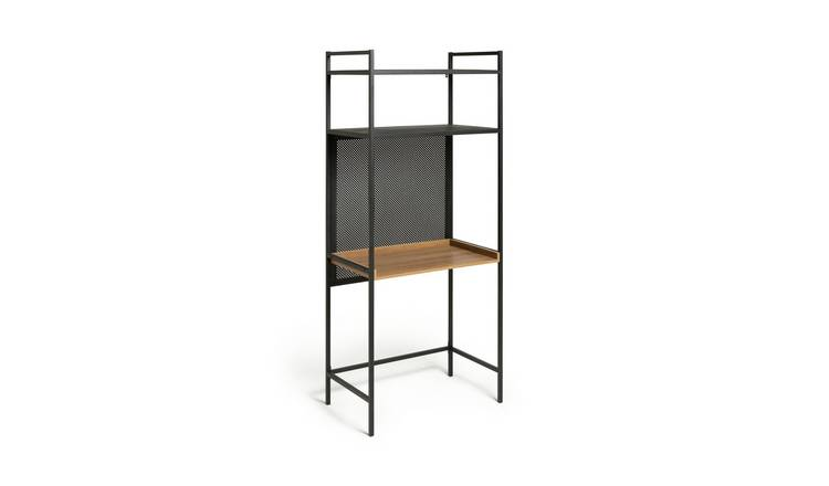 Habitat Turner 2 Shelf Office Desk - Black