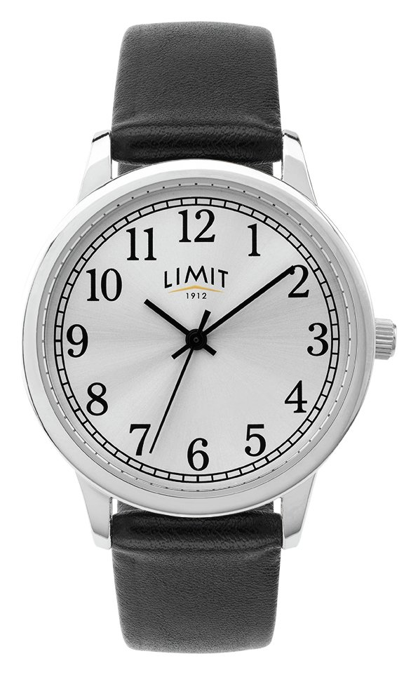Limit Ladies Black Faux Leather Strap Watch