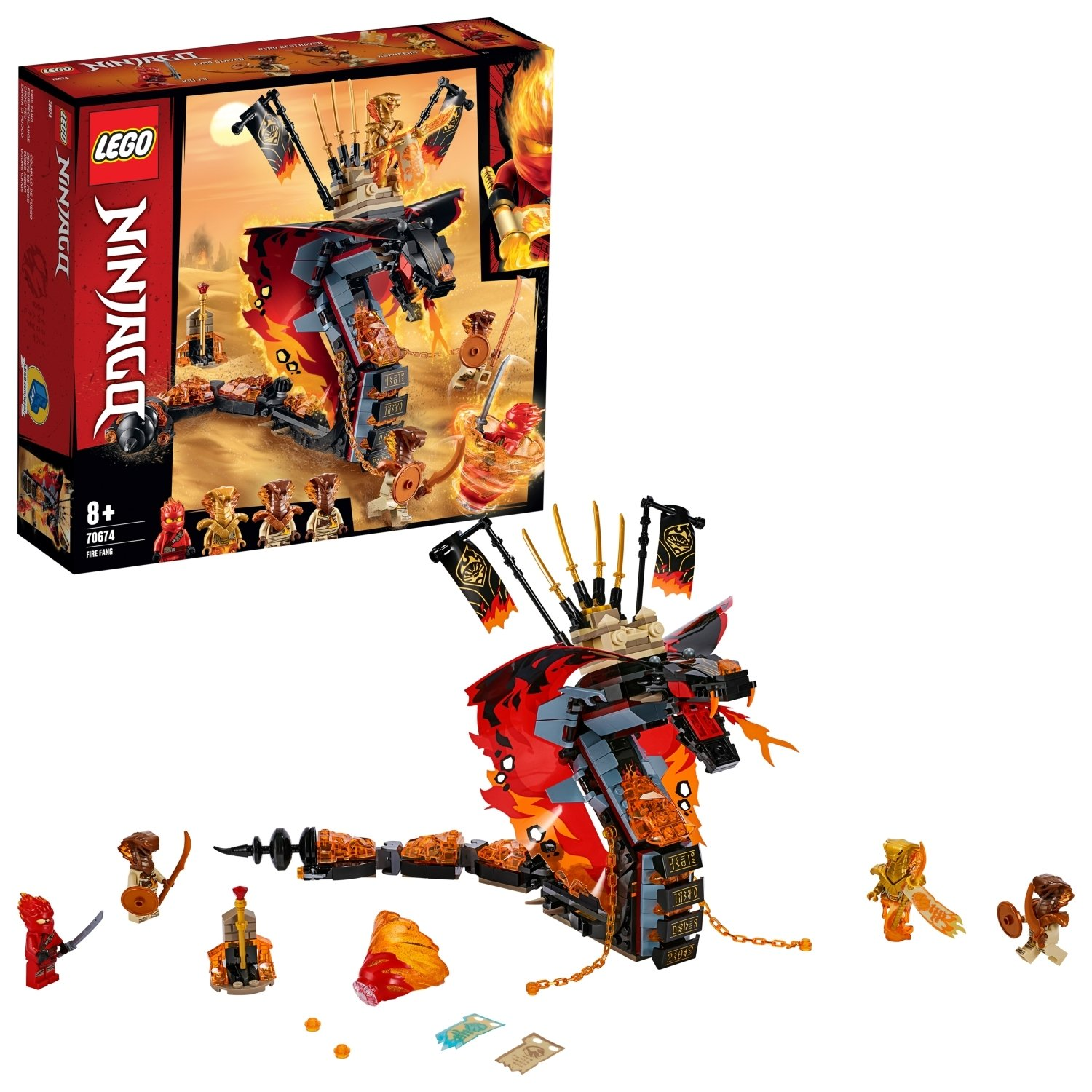 LEGO Ninjago Fire Fang Playset - 70674