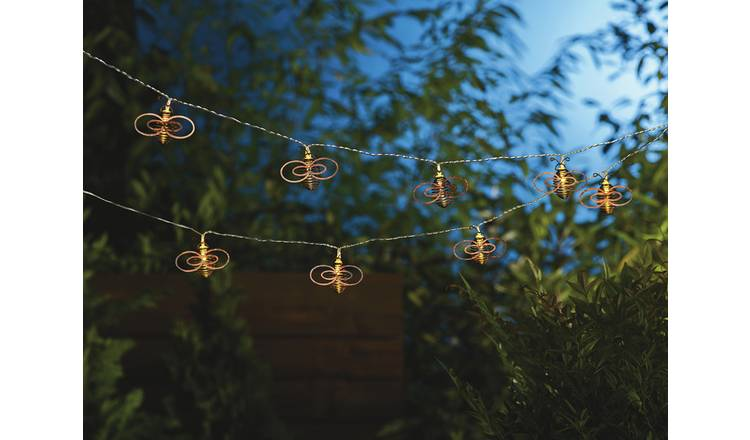 Habitat 20 Warm White Bee LED Solar String Lights