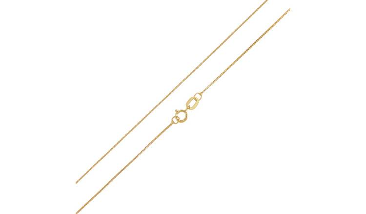 Revere 9ct Yellow Gold Box 20 Inch Chain