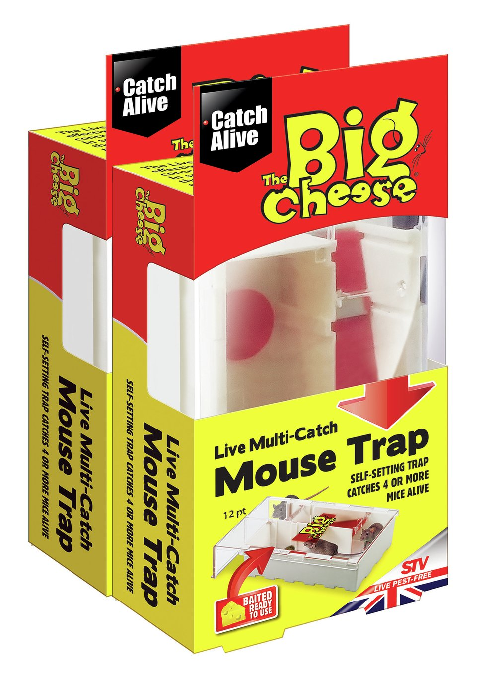The Big Cheese Live Mouse Trap - Twin Pack