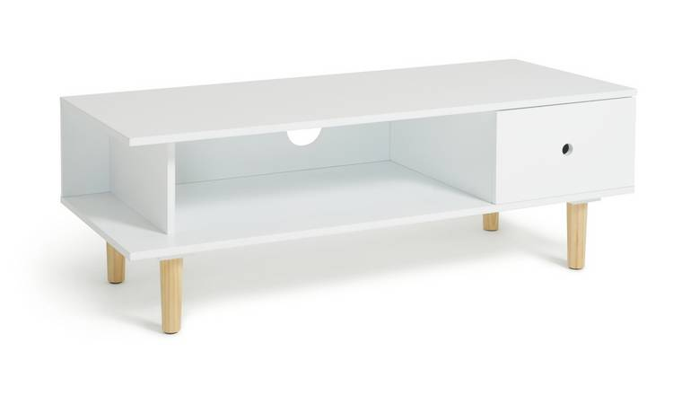 Habitat Cato 1 Drawer TV Stand - White
