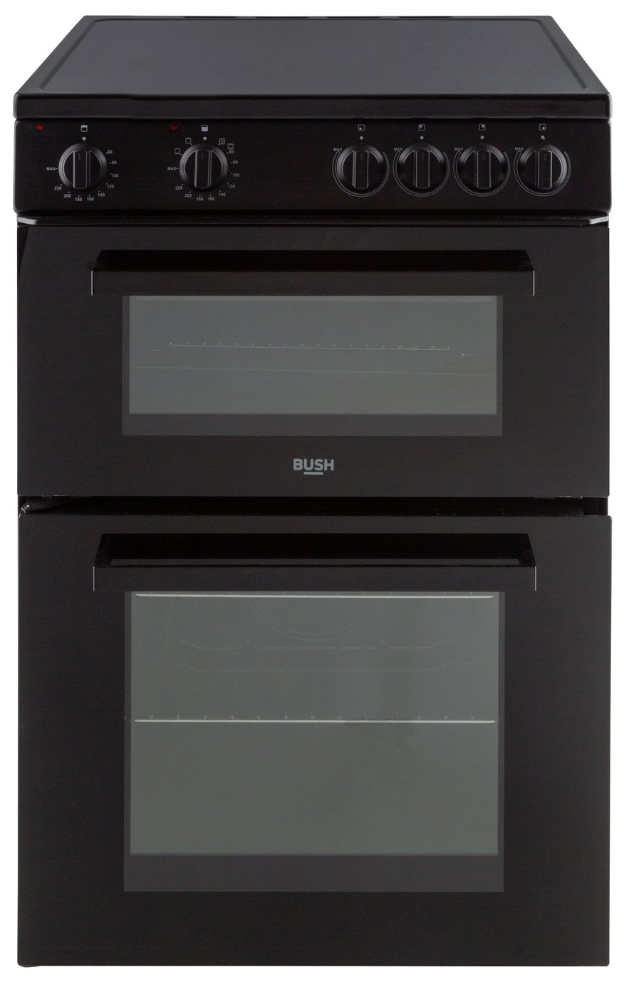 Bush B60TCBX 60cm Twin Cavity Electric Cooker - Black Best Price, Cheapest Prices