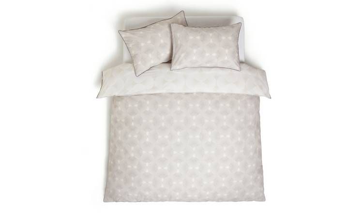 Habitat Fan Print Reversible Cream Bedding Set - Single