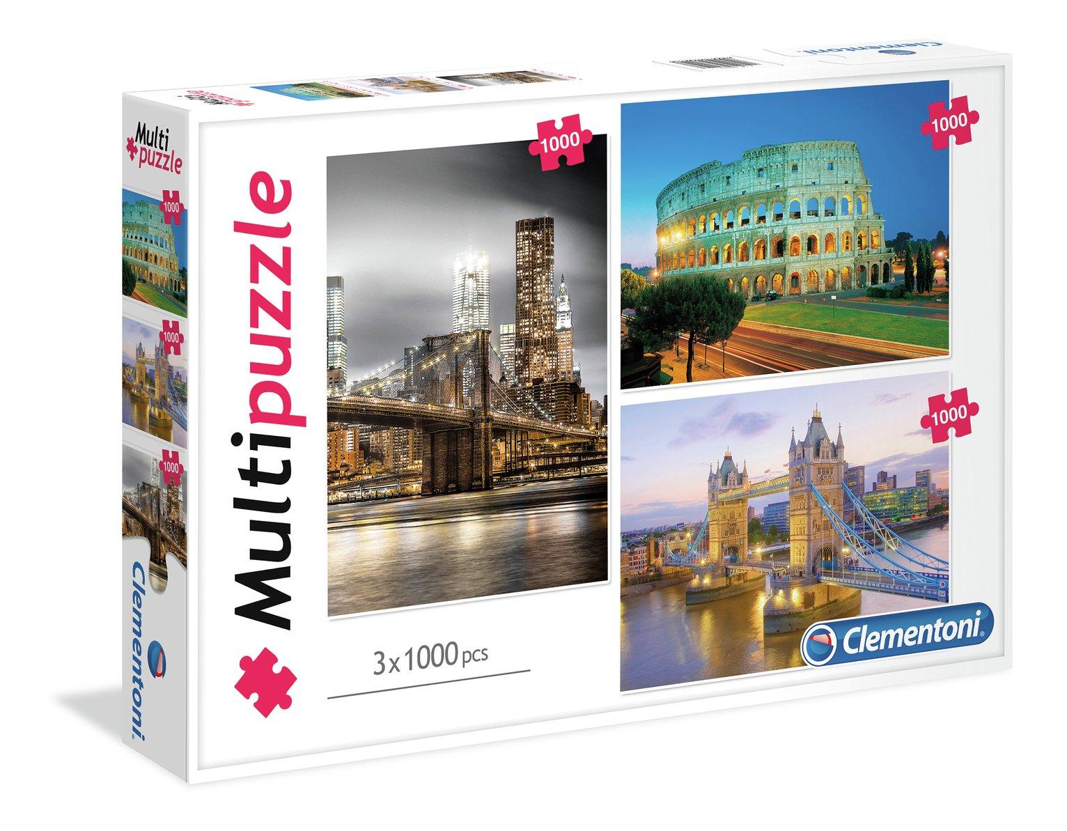 Clementoni 1000 Piece City Mega Jigsaw Puzzle - Set of 3