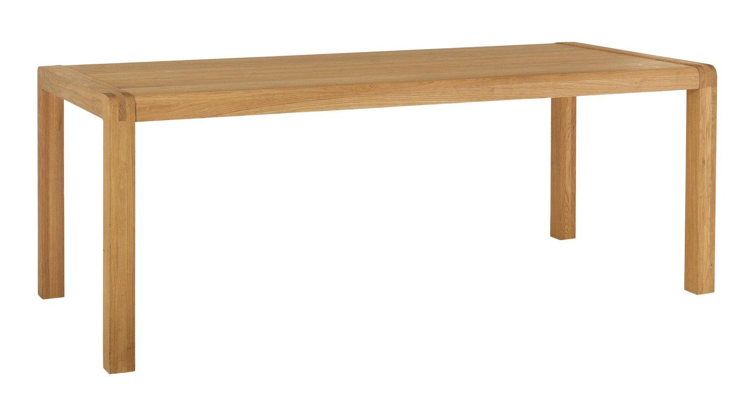 Habitat Radius Solid Oak 8 Seater Dining Table