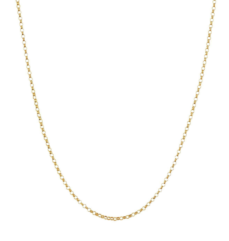 Revere 9ct Yellow Gold Fine Round Belcher 18inch Chain