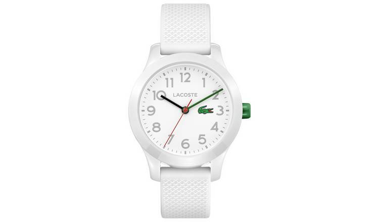 Lacoste Unisex  White Silicone Strap Watch