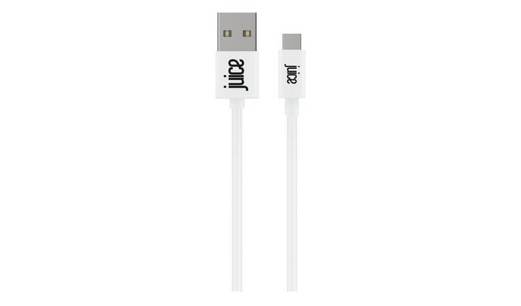 Juice USB A to USB C 1m Charge Cable - White