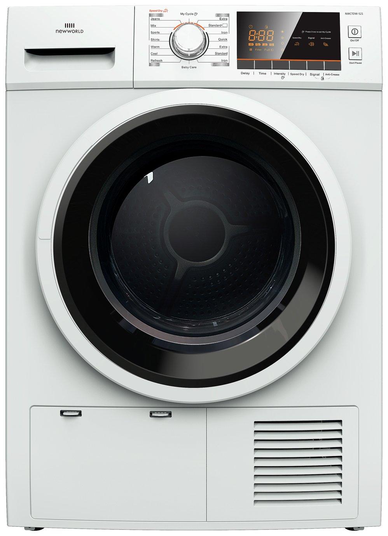 New World NW8KGCONDWTTD 8KG Condenser Tumble Dryer White
