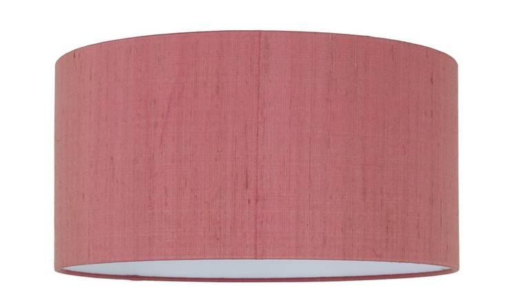 Habitat Drum Silk 49cm Shade - Pink