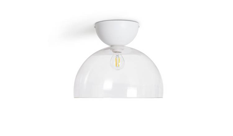 Habitat Diablo Glass Flush to Ceiling Light - White