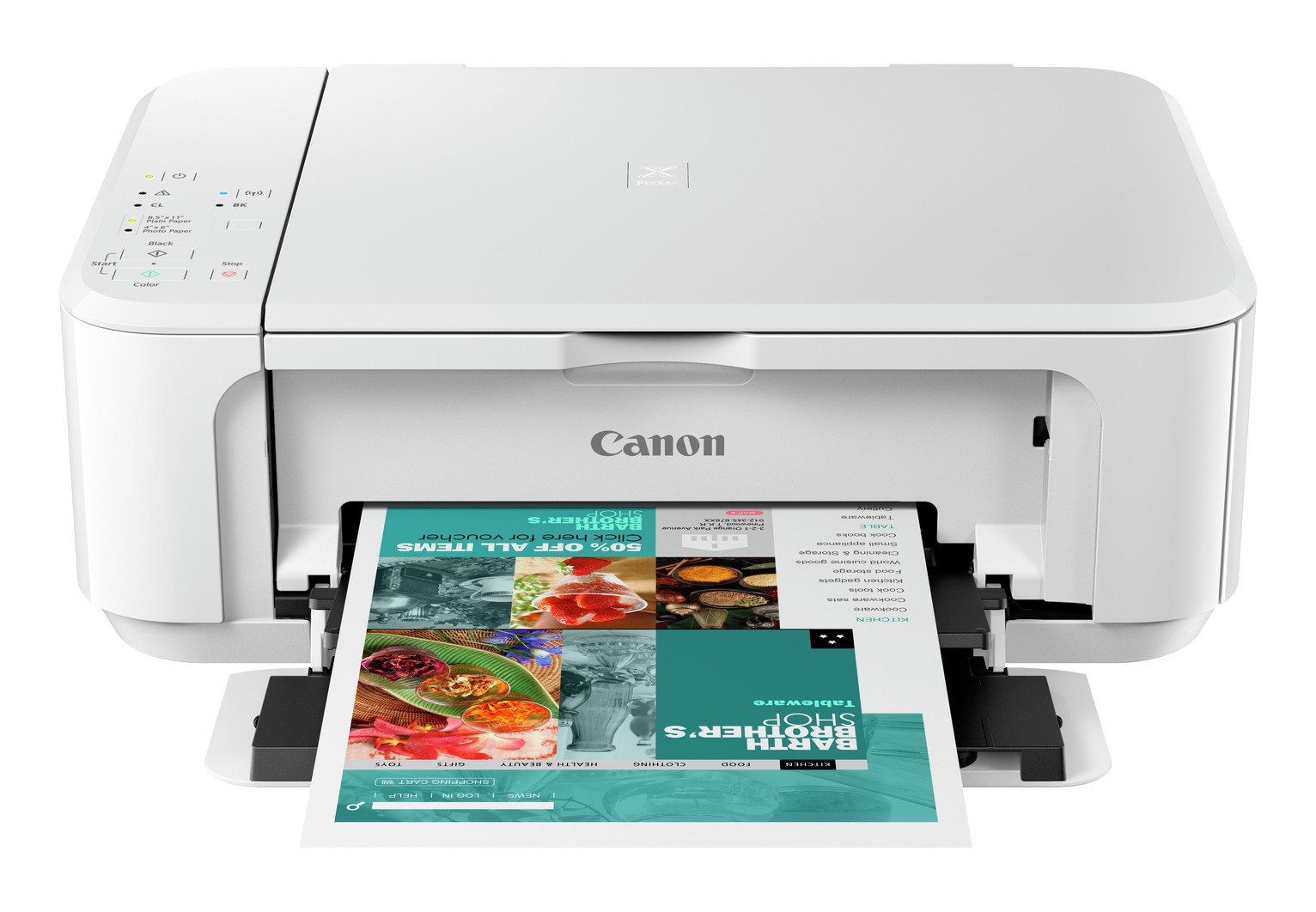 Canon Pixma MG3650S Wireless Inkjet Printer - White