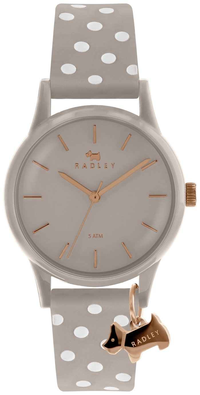 Radley Ladies Grey Silicone Strap Watch