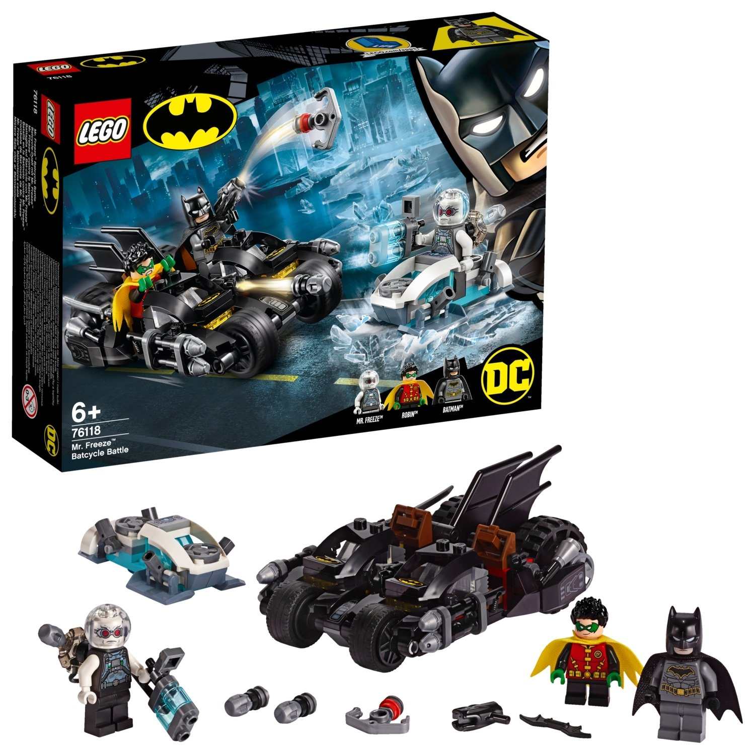 LEGO DC Batman Mr. Freeze Batcycle Battle Toy Bike - 76118