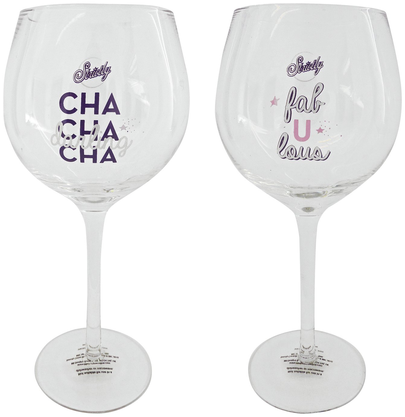 Strictly Come Dancing Set of 2 Gin Glasses
