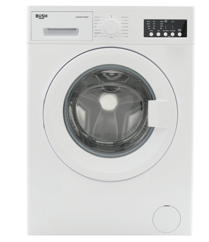 Bush WMSAE1012EW 10KG 1200 Spin Washing Machine - White