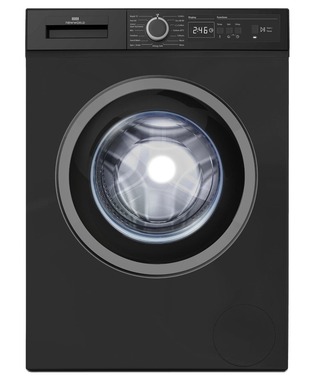 New World NWDHTE714B 7KG 1400 Spin Washing Machine - Black