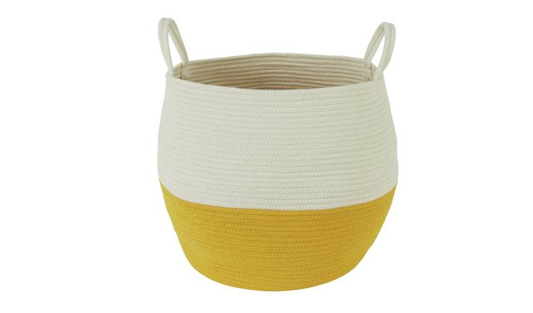 Habitat Clio Storage Basket - White and Yellow