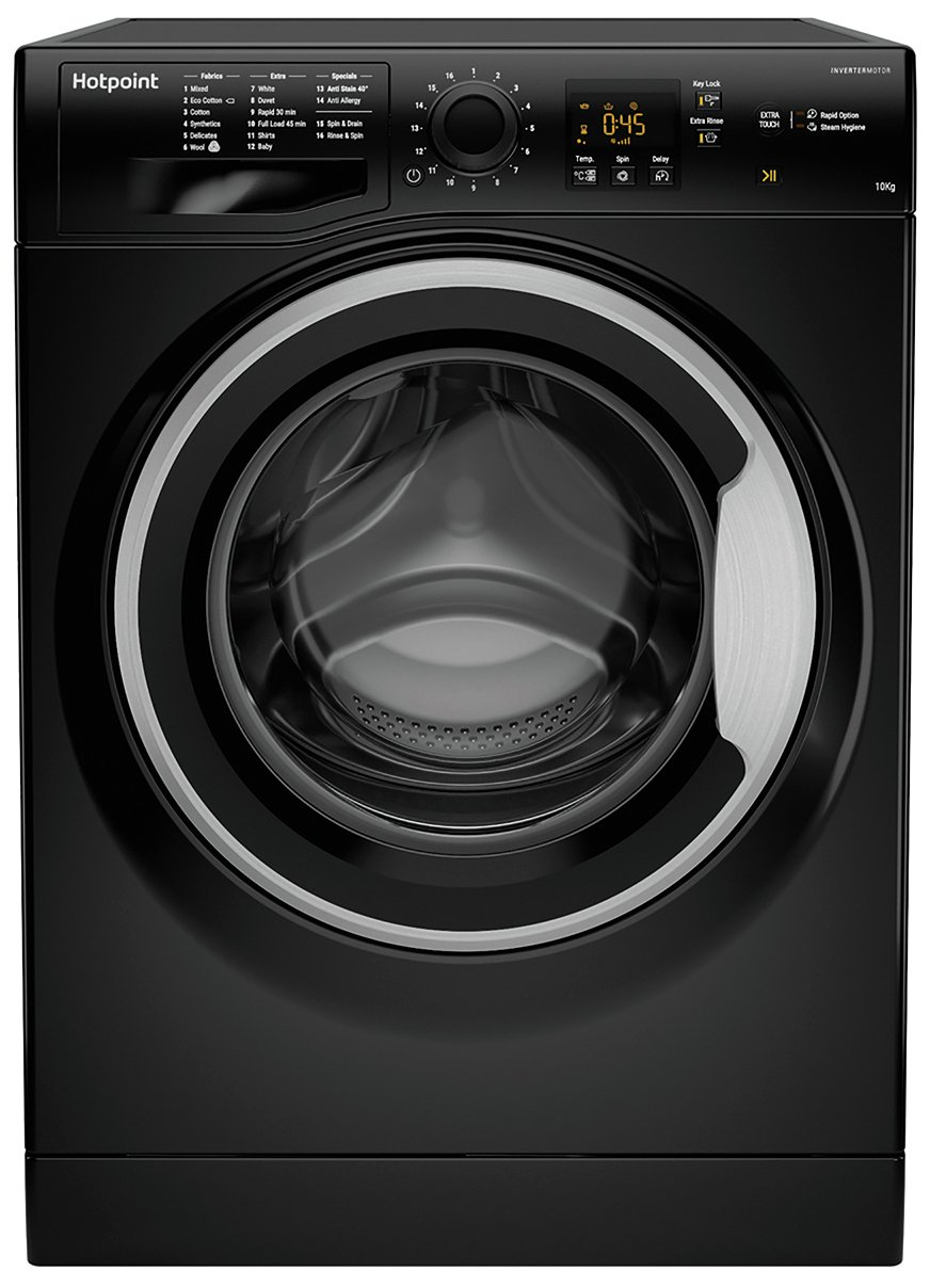 Hotpoint NSWM1043CBS 10KG 1400 Spin Washing Machine - Black