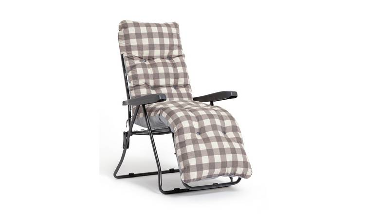 Habitat Metal Folding Sun Lounger - Check