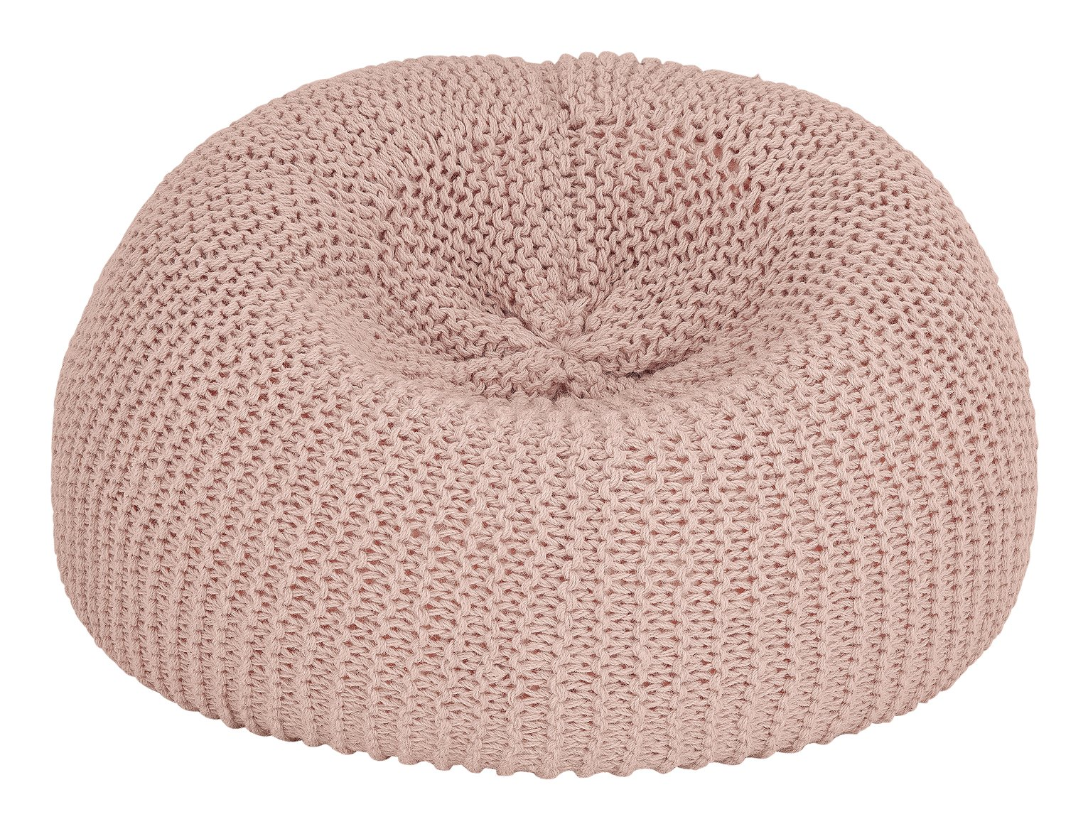 Argos Home Large Wool Beanbag - Pink