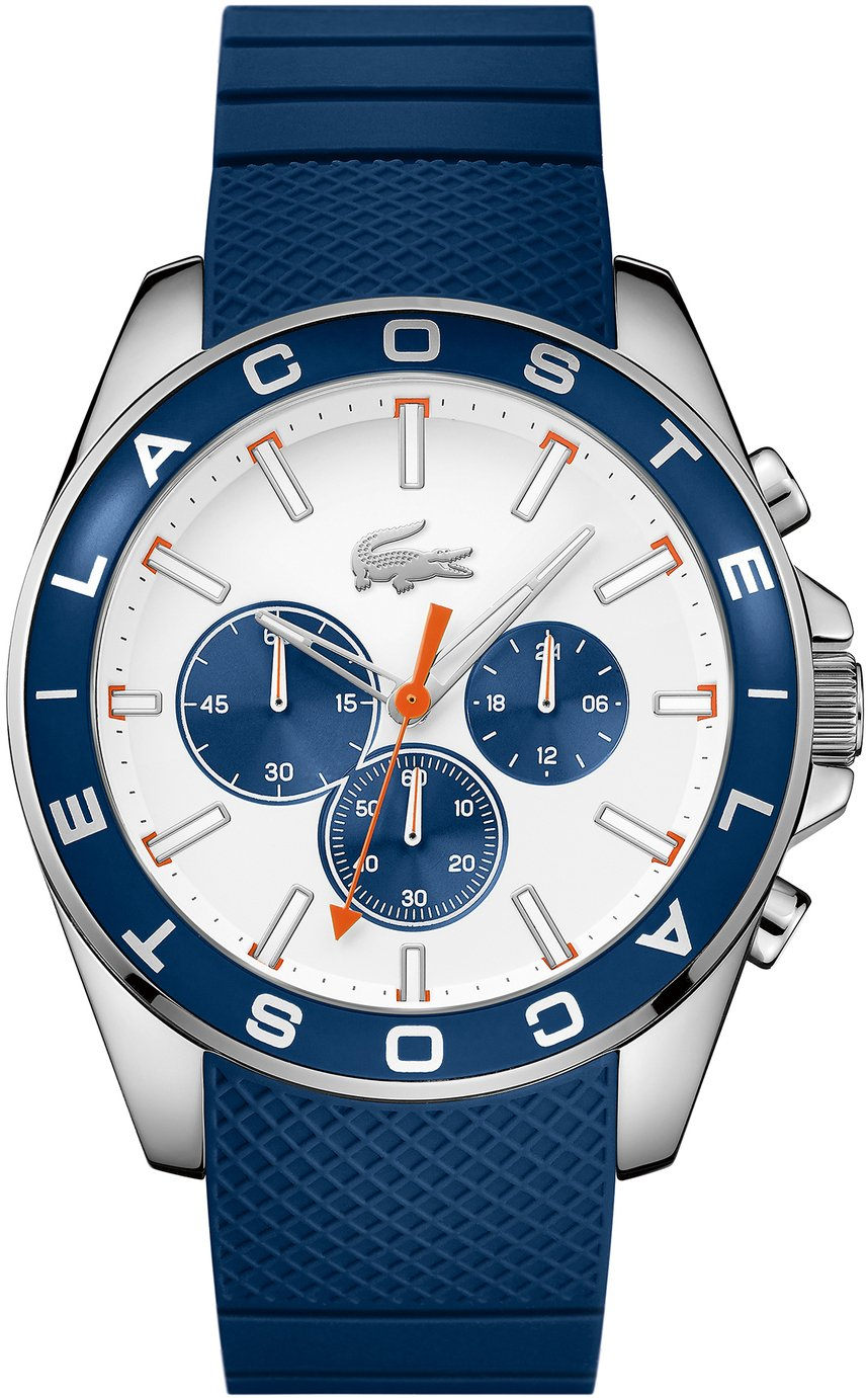 Lacoste Men's Blue Silicone Strap Watch
