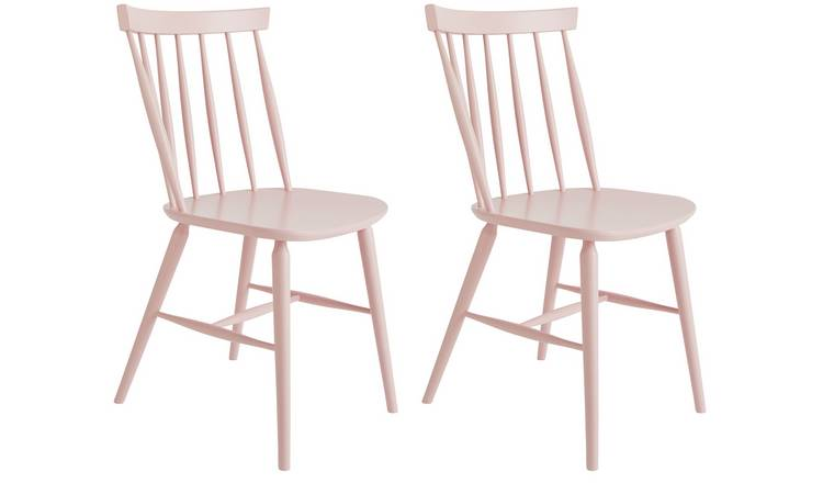 Habitat Talia Pair of Spindle Back Dining Chair - Pink