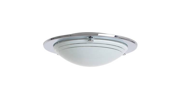 Argos Home Flush light Fitting - Chrome