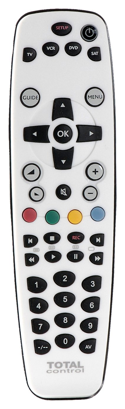 Total Control 4-Way Universal Remote Control - White