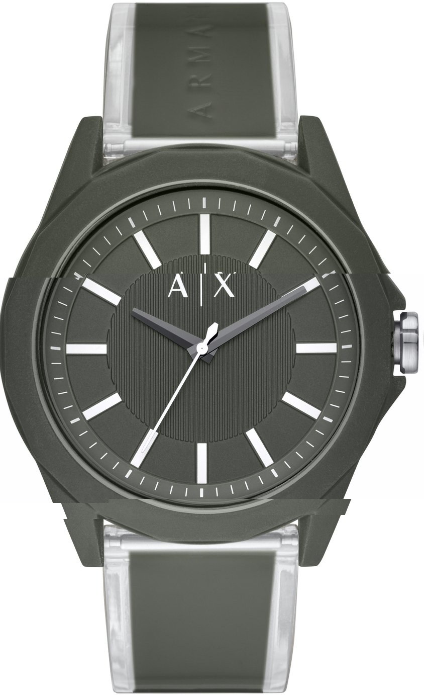 Armani Exchange Men's Military Green Strap Watch