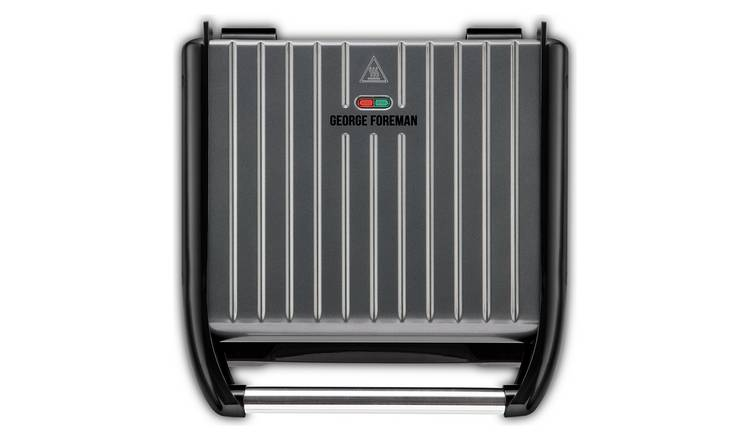 George Foreman Large Grey Steel Grill 25051
