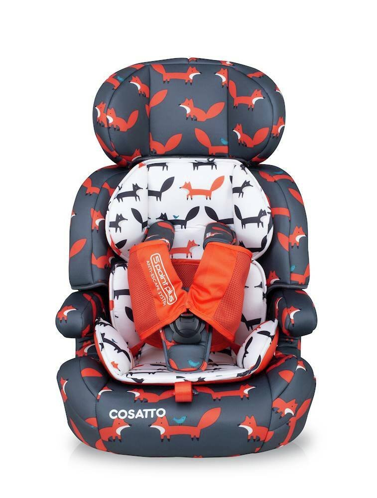 Cosatto Zoomi Group 1/2/3 Car Seat Charcoal Mister Fox
