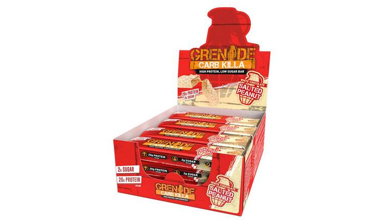 Grenade White Chocolate Salted Peanut Carb Killa Bars x12