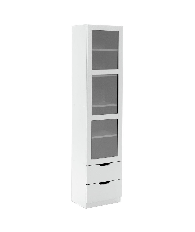 Habitat Compton 1 Door Glass Display Cabinet - White