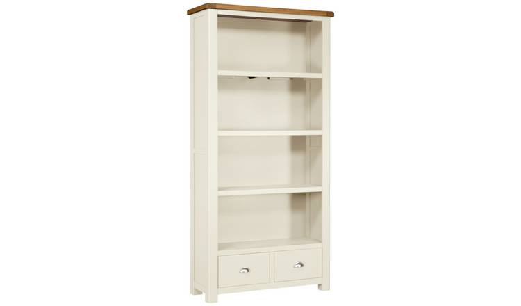 Habitat Kent 2 Drawer Bookcase - Oak and Cream