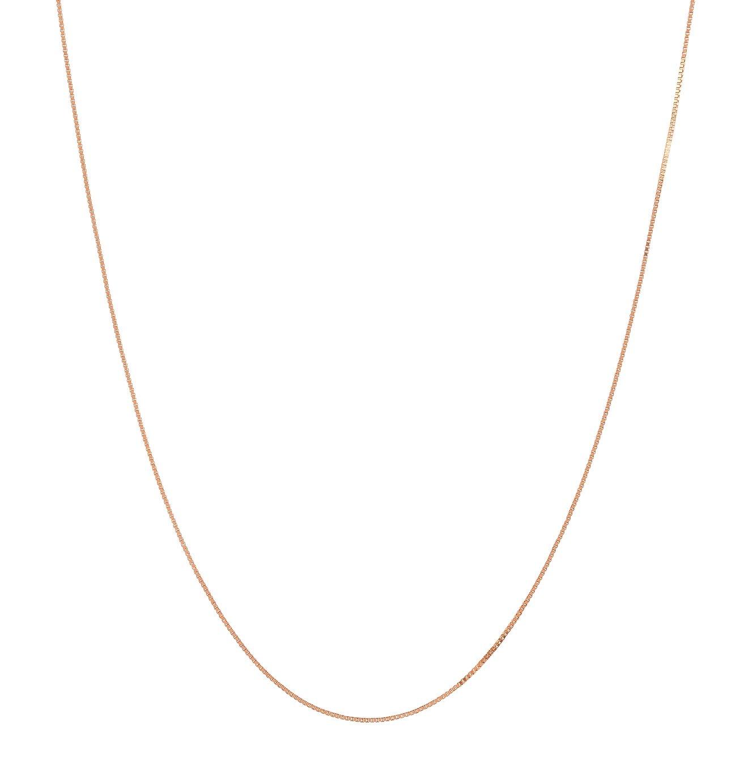 Revere 9ct Rose Gold Box 20inch Chain