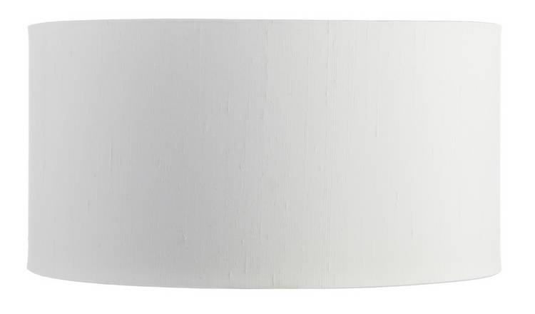 Habitat Drum Silk 35cm Shade - White