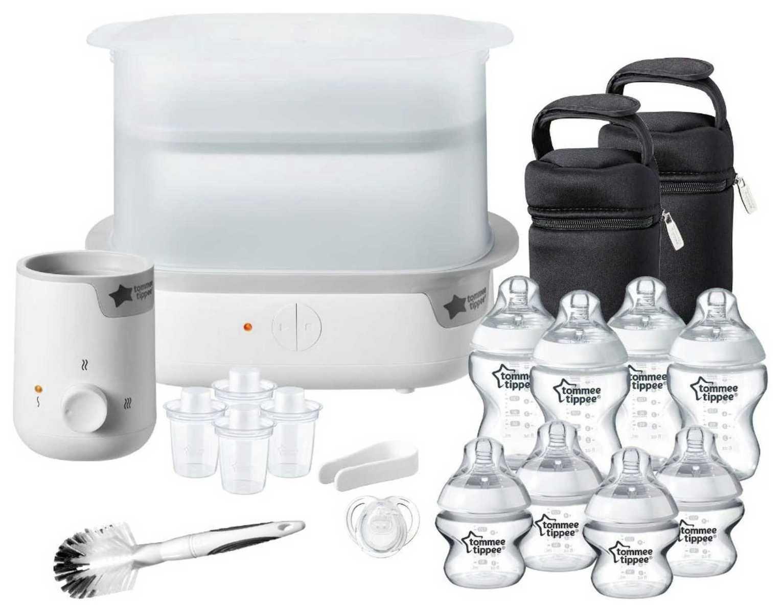 Tommee Tippee Complete Feeding Set & Baby Bottle Steriliser
