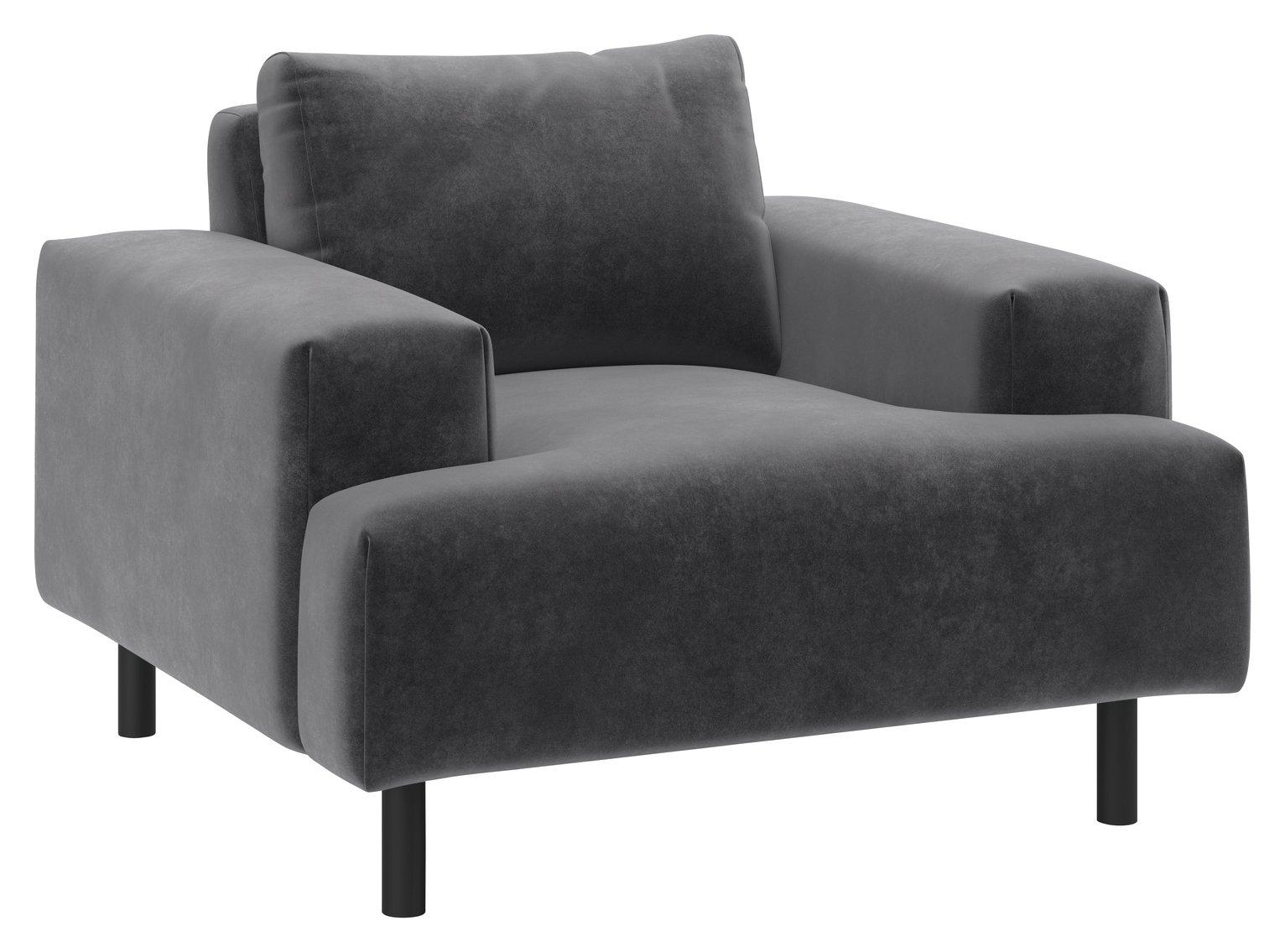Habitat Julien Fabric Armchair - Grey
