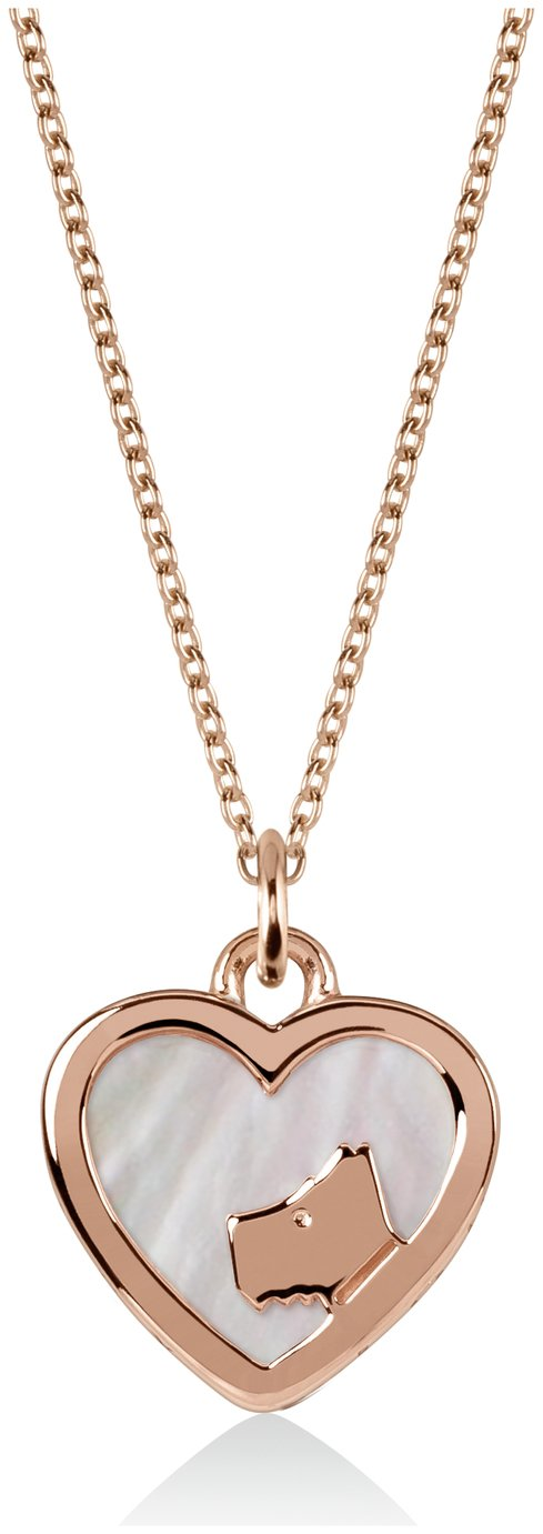 Radley London Pearl Stone-Set Ladies Rose Gold Necklace