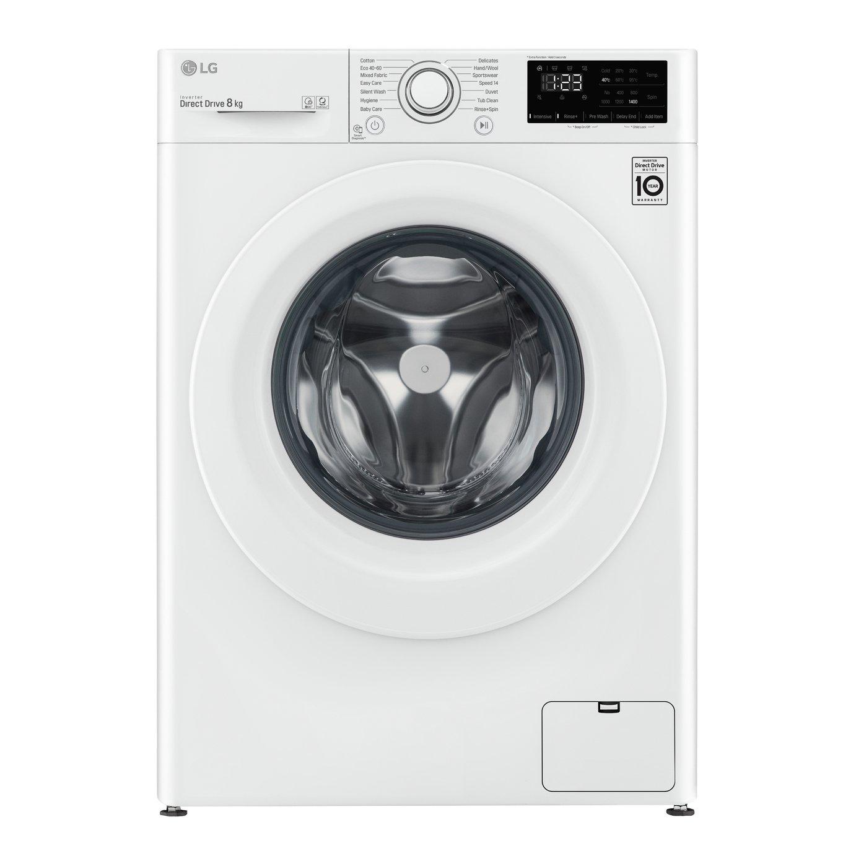LG F4V308WNW 8kg 1400 Spin Washing Machine - White