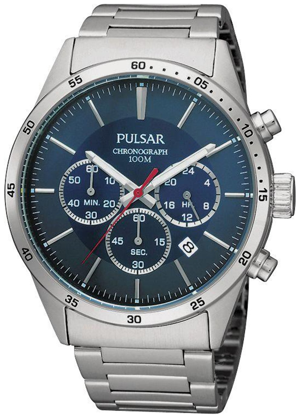 Pulsar Men's Stainless Steel Bracelet Chronograph Watch