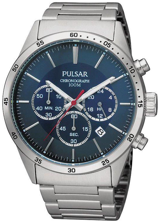 Pulsar Men's Stainless Steel Bracelet Chronograph Watch