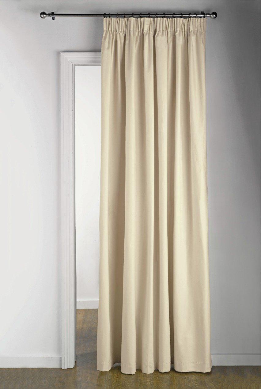 Buy Argos Home Thermal Door Curtain - 117x212cm - Cream | Curtains ...